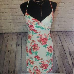 Mint Floral boho dress // Size Large